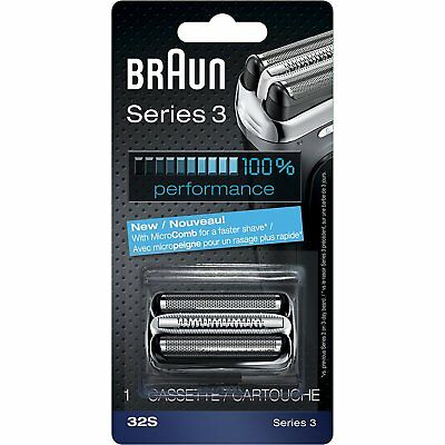 Braun 32S Series 3 Electric Shaver Replacement Foil and Cutter Cassette Silver