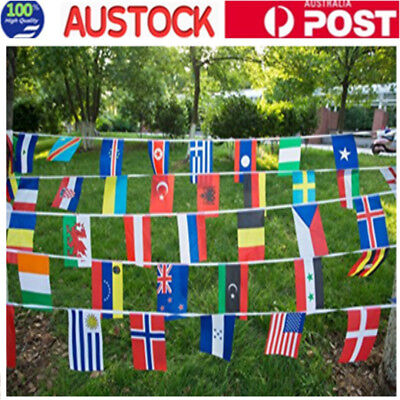 200 Country Banner String Flag 50M International World Bar Party Bunting