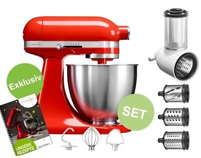 KITCHENAID ARTISAN MINI Küchenmaschine GEMÜSE SET Hot Sauce Rot ...