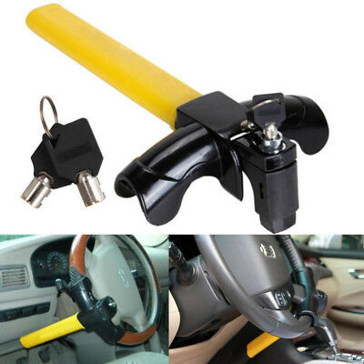 Car Steering Wheel T Type Anti-theft Lock With 2 Keys Universal Heavy Duty Car