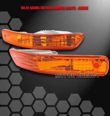 98-01 Acura Integra Front Bumper Turn Signal Parking Light Jdm Amber Gs-R Type R