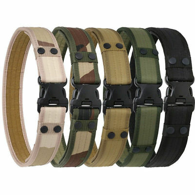 Men Outdoor Hiking Sports Waistband Army Tactical Military Trouser Buckle Belt V