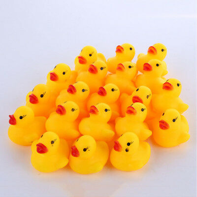 20Pcs Baby Bath Bathing Toys Rubber Race Squeaky Ducks Babies Water Playing Lots