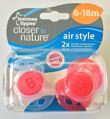 Tommee Tippee Closer to Nature Air-Style 6-18m Schnuller Rot
