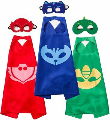 Funhall PJ Masks Capes Catboy Owlette Gekko Costumes For Kids for Ages 3 - 10