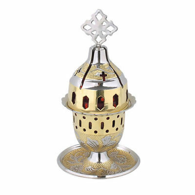 Greek Christian Orthodox Two Tone Brass Table Vigil Oil Lamp Prayer Corner New!