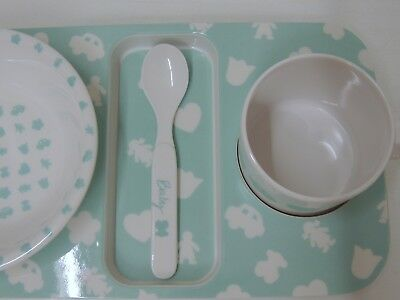 AUTHENTIC TOUS baby set bowl cup spoon tray little use