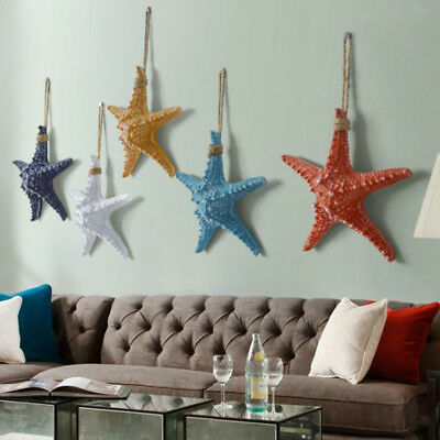 Nautical Style Starfish Resin Wall Hanging Ornaments for Kid's Bedroom Decor