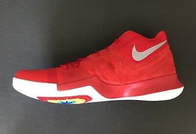 bf8b2a6f75e4a7 Nike Kyrie 3 University Red Suede Basketball Shoes 852395-601 Size Men s  10.5 US