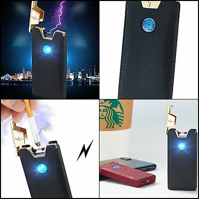Electric USB Electronic Dual Arc Lighter Flameless Recharge Windproof Fast Charg