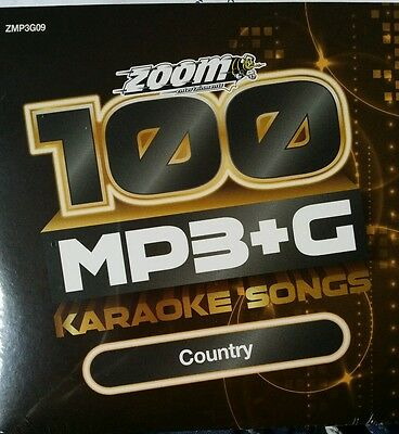 Zoom Karaoke MP3+G Disc - 100 Songs - TOP COUNTRY HITS  Brand New