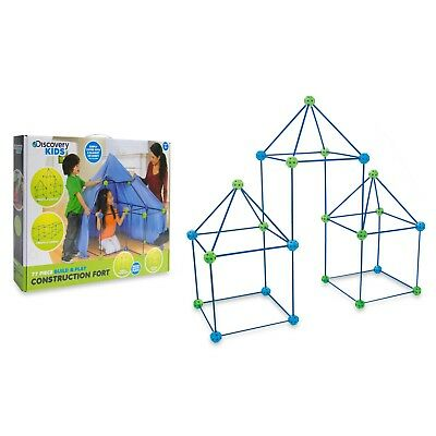 Discovery Kids 77-Piece Build And Play Tent Construction Fort Set  sc 1 st  PicClick & DISCOVERY KIDS 77-Pieces Build Play Indoor Complete Construction ...