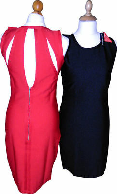 Definitions Cut Out Bodycon Dress Black size 8 or Red size  12 or 14 or 10