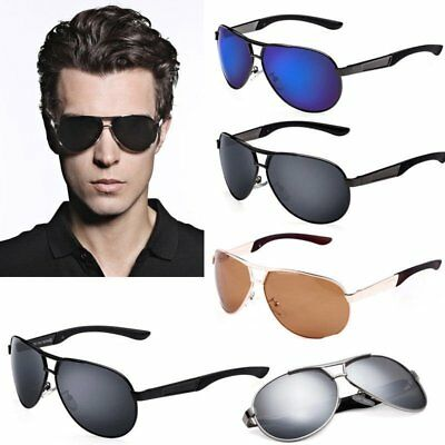2017 Men's-Polarized-Sunglasses-Driving-Aviator-Outdoor-Sports-Eyewear-Glasses