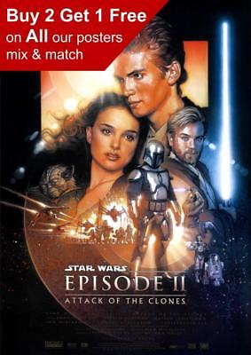 Star Wars Episode II Attack Of The Clones Movie Poster A5 A4 A3 A2 A1