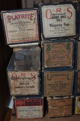 Vintage Player Piano Roll QRS Lot of 20 Lot #7 Waltz