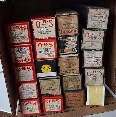 Vintage Player Piano Roll QRS Lot of 20 Lot #4 Waltz