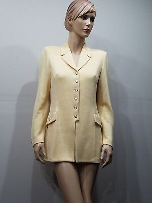 ST JOHN Collection by Marie Gray Size 6 Pale Yellow Santana Knit Blazer Jacket