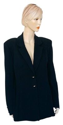 ST JOHN Basics by Marie Gray Size 4 Black Santana Knit Blazer Jacket