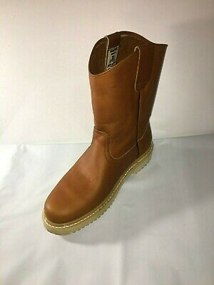 3f1d849dce6 MEN'S CONSTRUCTION WATER Proof Work Boots Pull On Leather oil slip resistant