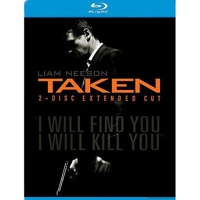 Taken (BRAND NEW Blu-ray Disc, 2009, 2-Disc Set, Extended Cut) FREE SHIPPING !!