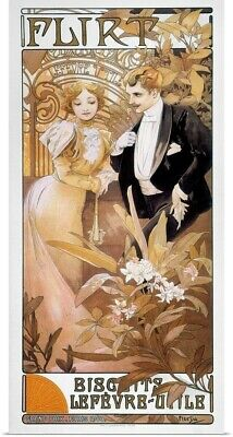 Poster Print Wall Art entitled Mucha: Biscuit Ad, C.1895