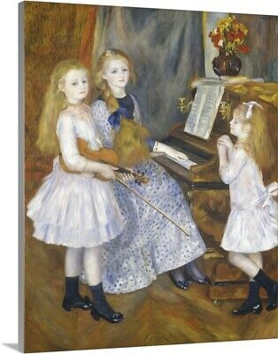 Solid-Faced Canvas Print Wall Art entitled The Daughters of Catulle Mendes,