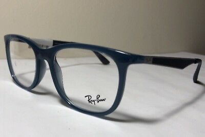 1483c129c34 NEW Ray Ban RB7078 (8019) Transparent Light Blue 53 18  145 Eyeglasses