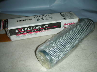 SCHROEDER NNZX25 HYDRAULIC 3000PSI 25 micron Synthetic Media Filter Element NOS!