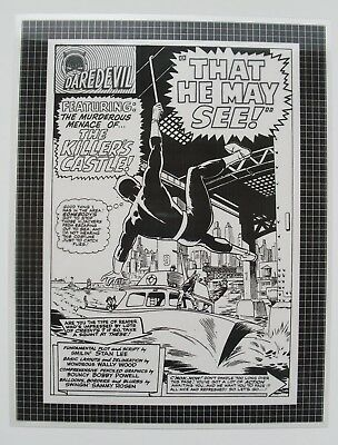 Original Production Art DAREDEVIL #9, splash page, WALLY WOOD art