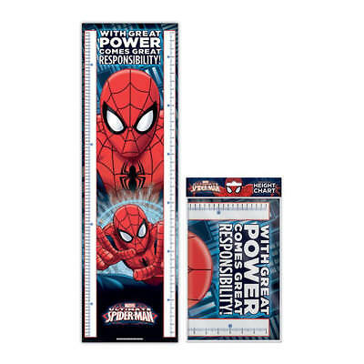 Spiderman (With Great Power) Folded Kids Height Chart 1.6M Marvel Wall Poster