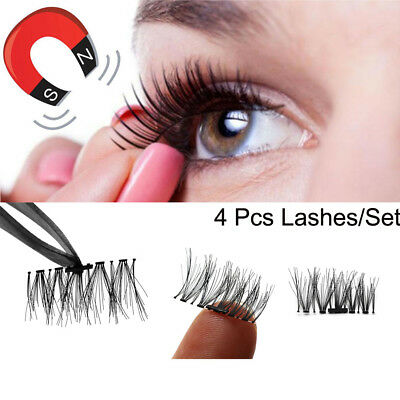 SKONHED 4 Pcs Lashes/Set Wimpern Outils D'extension Faux Cils Thick Long