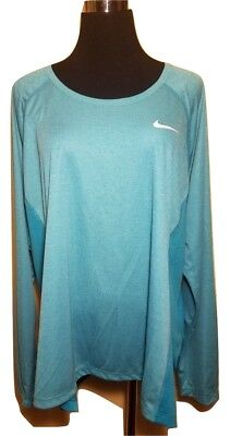 6ce67bc49d61b NWT Women's NIKE Dry Miler Long Sleeve Active Top - Teal Green Heather Plus  1X