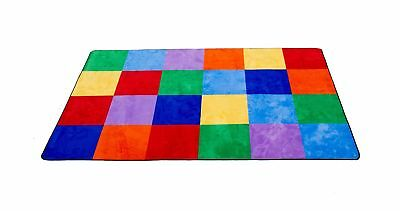"""Learning Carpets Colorful Grid Rug, Large/8'5"""" x 11'9"""" Standard Packaging"""
