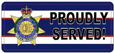 Royal Australian Corps Of Transport Ract Proudly Served Vinyl Sticker 80X180Mm