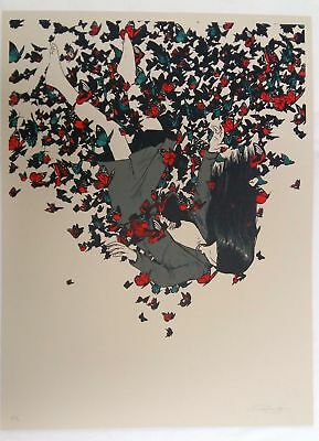 """Raid71, Butterfly 13, 18""""x24"""" PP#/2 signed"""