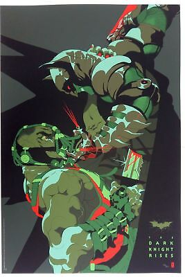 "Tomer Hanuka, The Dark Night Rises, 24""x36"" #/250"