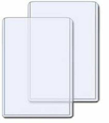 (25) 4X6 POSTCARD or PHOTO CLEAR RIGID TOPLOAD STORAGE TOPLOADER HOLDERS