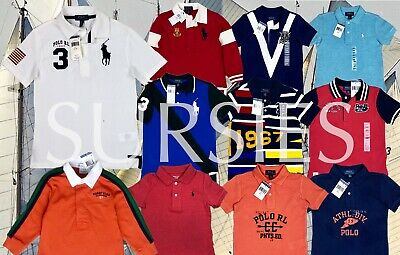 POLO RALPH LAUREN SHIRT Boys Classic Polo & Rugby Shirt ALL SIZES
