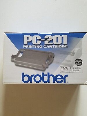 New Genuine Brother Pc-201 Fax/mfc Printing Black Toner Cartridge New
