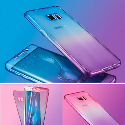 For Samsung Note8 S9 Plus A5 Slim 360°Full Protect Clear Gel Soft Case TPU Cover