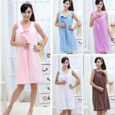 Soft Microfiber Robes Wearable Towel Robe Spa Fast Dry Towel Bathrobes For Women