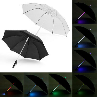 Creative 7 Color Changing LED Umbrella Flashlight for Safely Night Walking Gifts