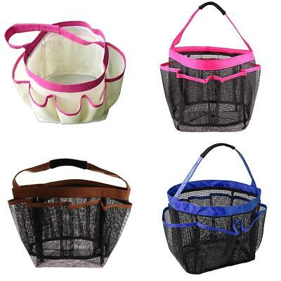 PORTABLE SHOWER Caddy Quick Dry 8 Pocket Hanging Bath Toiletry ...