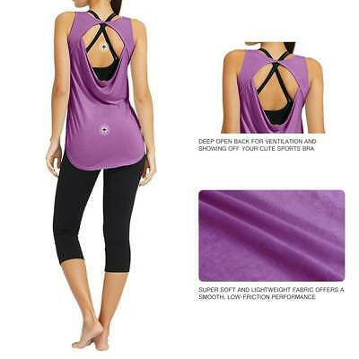 Womens Ladies Sports Vest Tank Top Stretch Cool Dry Wicking Fitness Gym Yoga Run