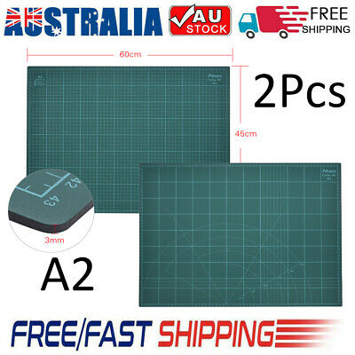 60×45cm A2 PVC Two-Sided Graduated Paper Cutting Mat Self-Healing Builders F7H4