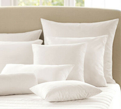 """Duck Feather Cushion Pads Inners Inserts Scatters Fillers Extra Filled 16""""-26"""""""