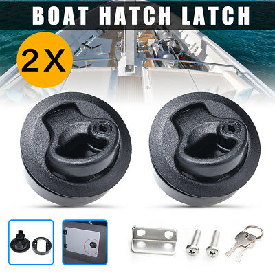 2Pc Slam Latch Hatch Flush Pull Slam w/Lock 1/2'' Door For M1-43 RV Marine Boat