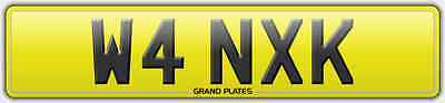 Number plate W4 NXK registration WANC WAN@$R PROPER RUDE REG NO ADDED FEE