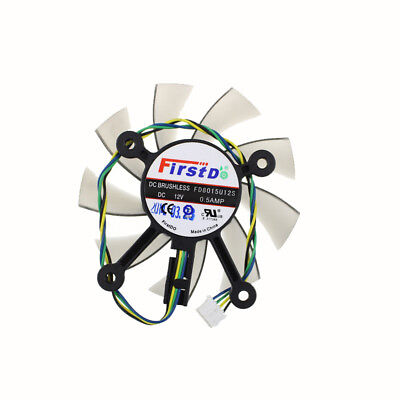 FD8015U12S 75MM For ASUS GTX560 GTX550Ti HD7850 Graphics Video Card Coling Fan